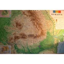 Romania. Harta fizico-administrativa (caserata)
