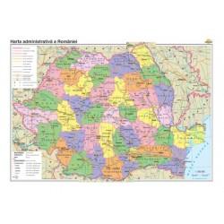 Harta Romaniei. Harta administrativa si a principalelor cai de comunicatie