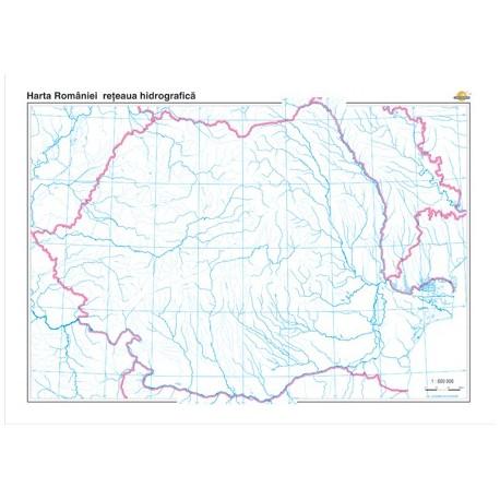 Romania: Harta retelei hidrografice