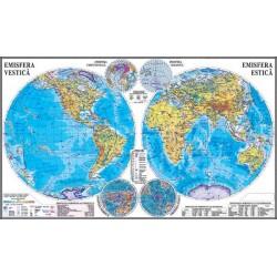 Planiglobul. Harta Emisferelor