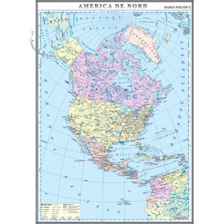 America de Nord. Harta politica