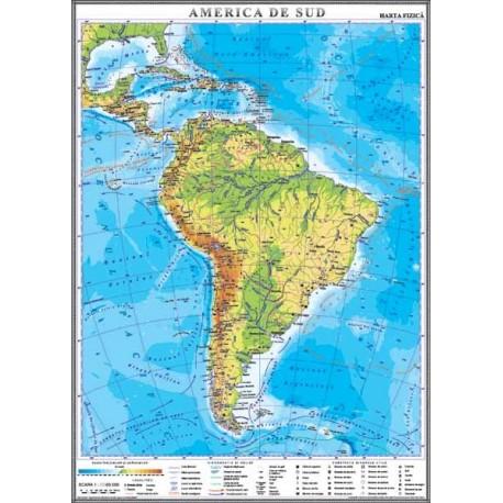 America de Sud. Harta fizica