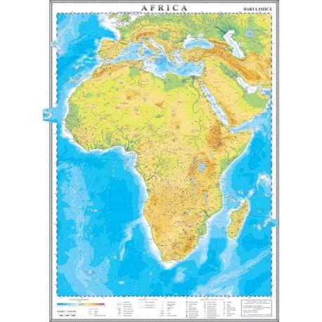 Africa. Harta fizica