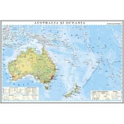 Harta economica a Australiei si Oceaniei