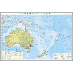 Australia si Oceania. Harta economica
