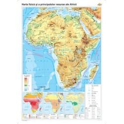 Africa: Harta fizico-geografica si a principalelor resurse natur