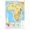 Harta fizico-geografica si a principalelor resurse naturale de subsol a Africei
