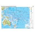 Harta fizico-geografica, politica si a principalelor resurse naturale a Australiei si Oceaniei