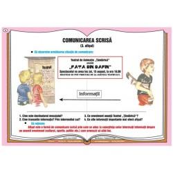 Comunicarea verbala - comunicarea scrisa - afisul