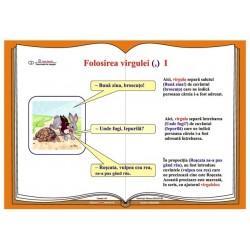 Plansa Folosirea virgulei (,)  - plansa I