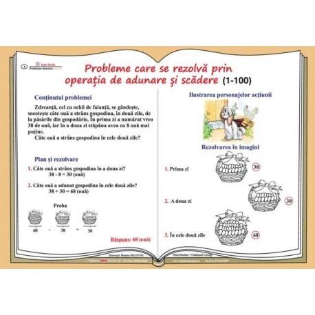 Probleme care se rezolva prin operatia de adunare si scadere (1-100)