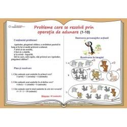 Probleme care se rezolva prin operatia de adunare (1-10)