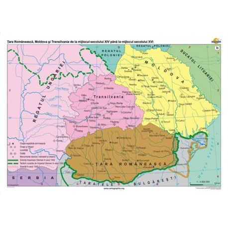 Tara Romaneasca, Moldova si Transilvania de la jumstatea sec. XVI - inceputul sec. XVIII