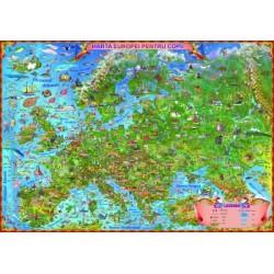Harta Europei pentru copii