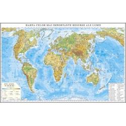 Harta fizica a lumii si a princepalelor resurse cu sistem de rulare