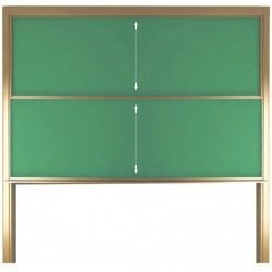 Tabla scolara verde culisanta pe verticala