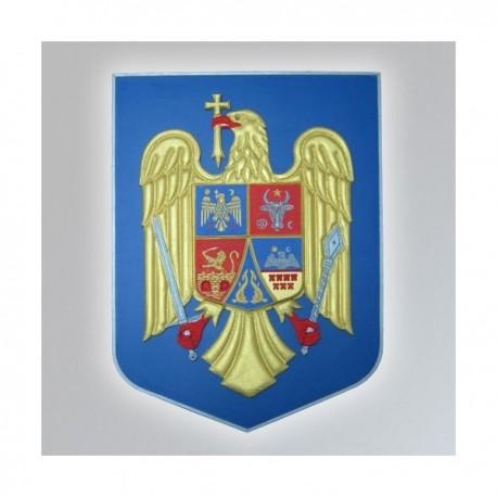 Stema Romania in basorelief 3D