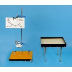 Dispozitiv pentru studiul ciocnirii elastice si aruncarii pe orizontala