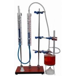 Dispozitiv pentru verificarea legilor gazelor