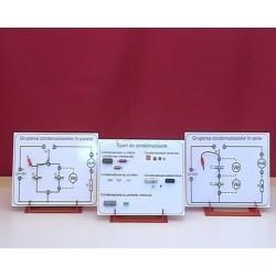 Placi cu montaje privind: tipuri de condensatoare, gruparea condensatoarelor in serie si in paralel