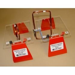Conductor liniar multispira şi conductor circular multispira pentru vizualizarea spectrului magnetic