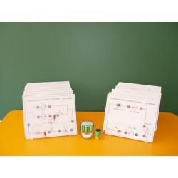 Set de circuite pentru experiente de electricitate, pentru gimnaziu
