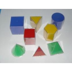 Set de 8 figuri geometrice din plastic