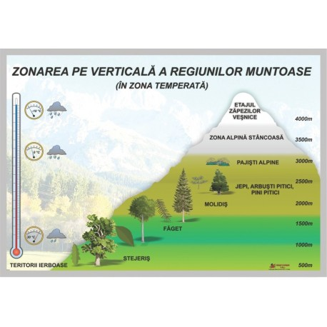 Zonarea pe verticala a regiunilor muntoase