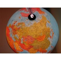 Glob geografic  iluminat - harta fizica/politica