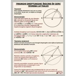 Triunghi dreptunghic inscris in cerc. Teorema lui Thales