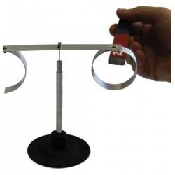 Dispozitiv cu bara magnetica pentru verificarea legii lui Lenz