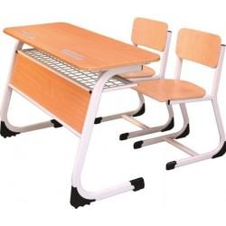 Banca scolara dubla cu 2 scaune
