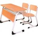 Banca scolara dubla cu 2 scaune fix - EDEN-L