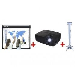 Pachet TABLA INTERACTIVA IQBoard DVT92+VIDEOPROIECTOR 3D INFOCUS IN112a+SUPORT DE TAVAN PT. VIDEOPROIECTOR PRB-2