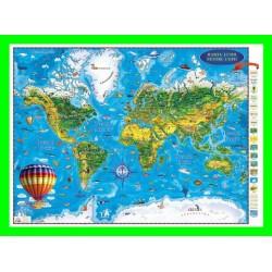Harta Lumii pentru copii (proiecţie 3D)