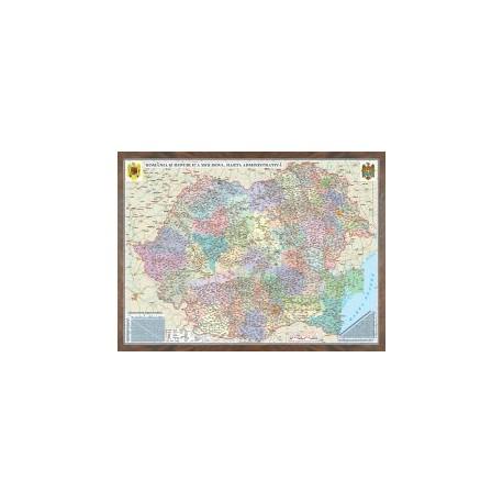 Harta administrativa  Romania si Republica Moldova.  (proiecţie 3D)