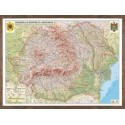 Harta fizica si  administrativa  Romania si Republica Moldova.  (proiecţie 3D)