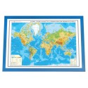 Harta lumii fizica si a substantelor minerale utile -3D