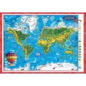 World map for children-3D projection