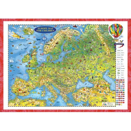 Europe map for children - 3D projection