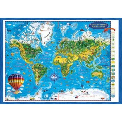 Carte de monde pour enfants - 3D projection