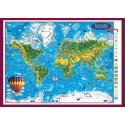 Weltkarte fur kinder - 3D Reliefkarte