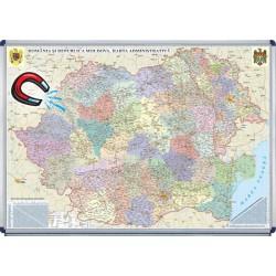 Harta administrativa  Romania si Republica Moldova-magnetica