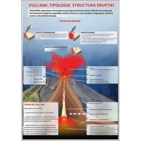 Vulcanii. Tipologie. Structura eruptiei