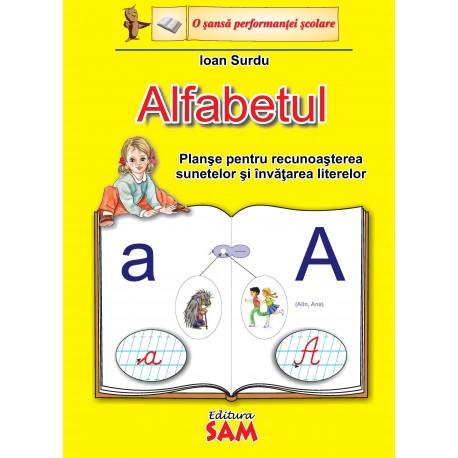 Alfabetul-planse pentru recunoasterea sunetelor si invatarea  literelor