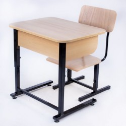 Banca scolara individuala reglabila cu scaun - ALINA