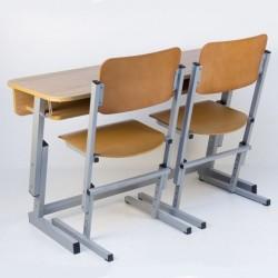 Banca scolara dubla reglabila cu 2 scaune reglabile PREMIUM-L