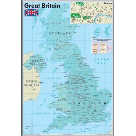 """Harta murala """"Great Britan"""""""