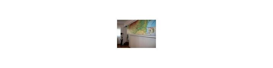 Harti geografice cu sistem electric de rulare
